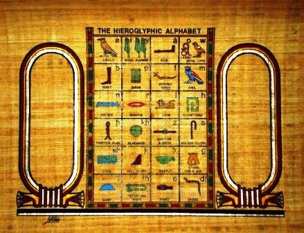 Egyptian papyrus art personalized hieroglyphic alphabet papyrus painting personalized hieroglyphic alphabet thecheapjerseys Gallery